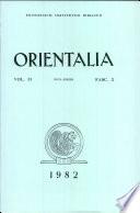 Orientalia: Vol. 51