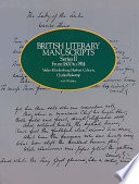 British Literary Manuscripts  From 1800 to 1914