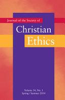 Journal of the Society of Christian Ethics  Volume 34