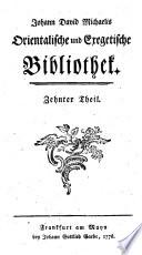 Johann David Michaelis Orientalische und exegetische Bibliothek