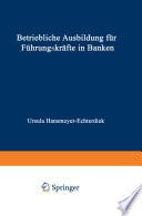 Betriebliche Ausbildung für Führungskräfte in Banken