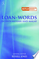 Loan Words in Indonesian and Malay