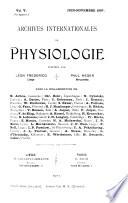 Archives internationales de physiologie et de biochimie