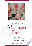 A Companion to Modernist Poetry