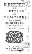 Recueil des Lettres et Mémoires