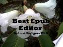 Best Free epub Editor