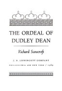 download ebook the ordeal of dudley dean pdf epub
