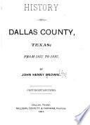 History of Dallas County  Texas