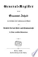 Archiv für das Zivil- und Kriminalrecht der Königlich-Preussischen Rheinprovinzen