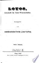 """Lotos. Zeitschrift für Natur-Wissenschaften hrsg. vom naturhistorischen Verein """"Lotos"""" in Prag"""
