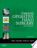 Green s Operative Hand Surgery  The Pediatric Hand
