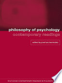 Philosophy of Psychology  Contemporary Readings