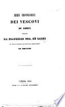 Serie cronologica dei Vescovi di Adria     con annotazioni