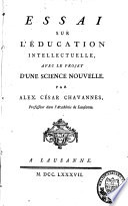 Essai sur l'éducation intellectuelle