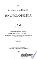 The American And English Encyclopaedia Of Law