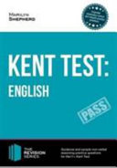 Kent Test  English   Guidance and Sample Questions and Answers for the 11  English Kent Test