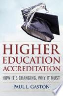 Higher Education Accreditation