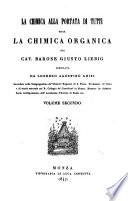 La chimica alla portata di tutti ossia la chimica organica compilata da Lorenzo Agostino Ghisi