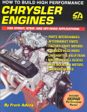 How to Build High Performance Chrysler Engines for Street  Strip  and Off road Applications