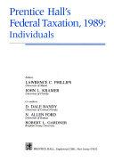 Prentice Hall s federal taxation  1989