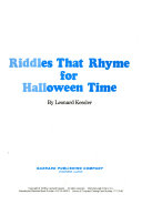 Riddles That Rhyme for Halloween Time