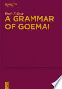 A Grammar of Goemai