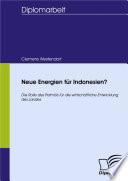 Neue Energien für Indonesien?
