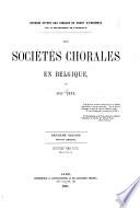 Les sociétés chorales en Belgique