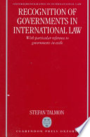 Recognition of Governments in International Law