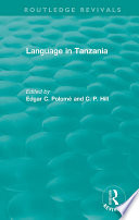 Routledge Revivals: Language in Tanzania (1980) Comprehensive Overview Of The Survey