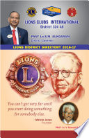 Lions 324A8 District Directory  2016 17
