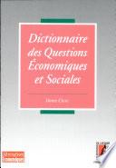 Dictionnaire des questions économiques et sociales