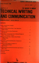 Journal Of Technical Writing And Communication book