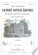 The Canadian Patent Office Record  Vol  XXVIII  No  7