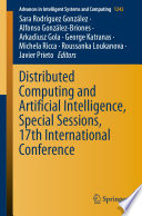 Distributed Computing And Artificial Intelligence Special Sessions 17th International Conference