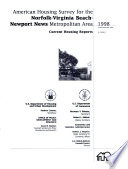 American Housing Survey for the Norfolk Virginia Beach Newport News Metropolitan Area in 1998