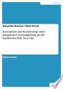 Konzeption und Realisierung einer integrierten Lernumgebung an der Fachhochschule Neu-Ulm