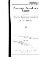 American Duroc Jersey Record