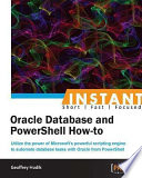 Instant Oracle Database and PowerShell How to
