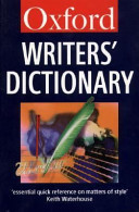 The Oxford Writers  Dictionary