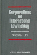 Corporations and International Lawmaking