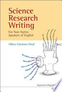 Science Research Writing For Non Native Speakers Of English