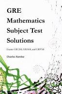 GRE Mathematics Subject Test Solutions