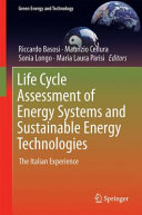 Life Cycle Assessment of Energy Systems and Sustainable Energy Technologies