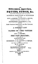 download ebook the addresses, speeches, squibs, songs, &c. which were circulated during the recent general election of members for ... exeter, and ... devon; together withthose published at the contested election in 1816 [&c.]. compiled by r. cullum pdf epub