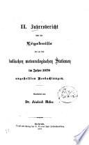 Jahresbericht   ber die Ergebnisse der an den badischen meteorologischen Stationen im Jahre     angestellten Beobachtungen