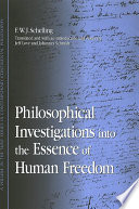 Philosophical Investigations into the Essence of Human Freedom Book PDF