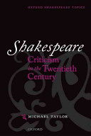 Shakespeare Criticism in the Twentieth Century