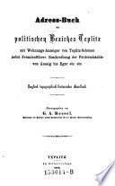 Adress-Buch des polit. Bezirkes Teplitz (etc.)