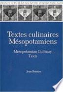illustration du livre Mesopotamian culinary texts